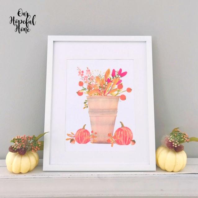 fall foliage urn