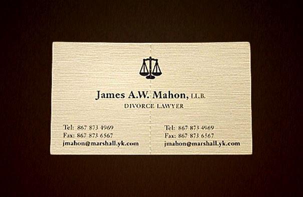 Tarjeta De Abogado Divorcios Tarjetas Presentación Creativas