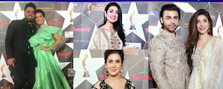 Beautiful Clicks of Celebrities at the Red Carpet of Hum Awards 2019