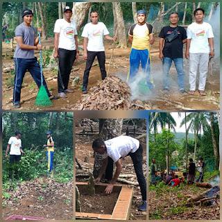 Melayu Raya kecamatan Selayar Lakukan Goro  di pemakaman umum menyambut Bulan suci Ramadhan