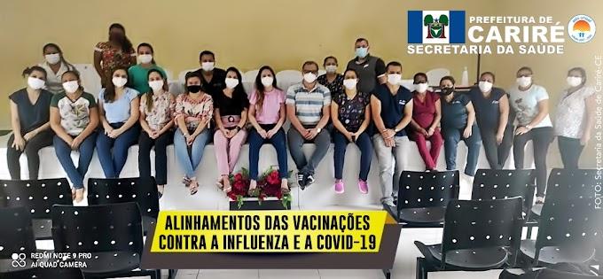 Saúde realiza Alinhamento da Vacinação Contra a Gripe, que terá início dia 19/04, em Cariré