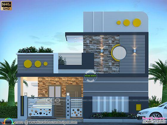1428 sq. ft. Modern single floor home design