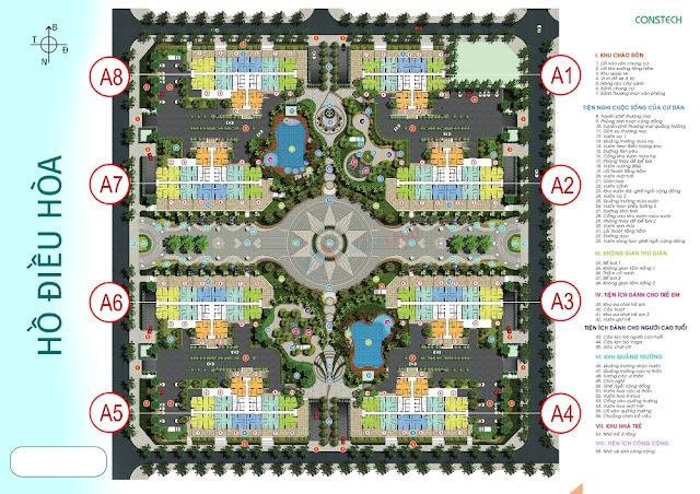 Mặt bằng phân khu tiện ích chung cư An Bình City