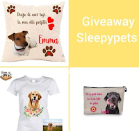 Logo Giveaway da SleepyPets: vinci gratis t-shirt, cuscino e pochette personalizzato per il tuo Pet