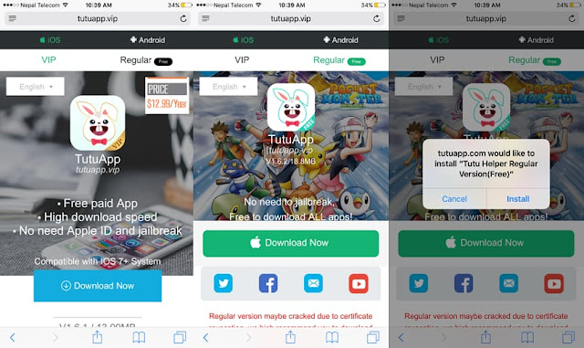 Here's a simply way to download TutuApp Helper – Tutu App IPA on iOS 10.3.2/10.3.2/10.3.2/10.3/10.2.1/10.2/10.1.1/10 without Jailbreak