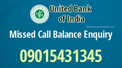 Missed call - United Bank of India Balance Check