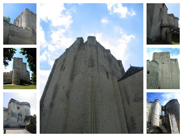 seven views of the dunjon at Loches in a collage