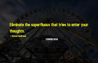 Eliminate the superfluous Quote by steven redhead