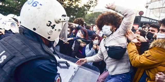 Aksi Protes Kampus Berlanjut, Polisi Turki Kembali Menahan 50 Orang