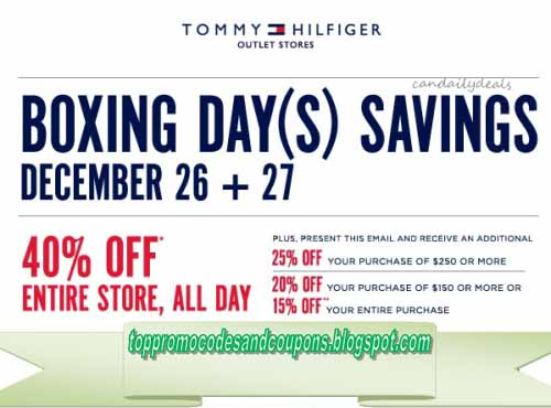 image relating to Tommy Hilfiger Outlet Coupon Printable identified as Cost-free Promo Codes and Discount coupons 2019: Tommy Hilfiger Coupon codes