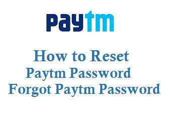 Paytm Password Reset