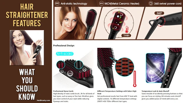 hair brush straightener important features