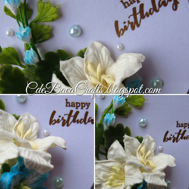 Handmade happy birthday gift tags with flowers by CdeBaca Crafts handmade cards