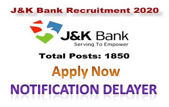 J&K Bank recruitment 2020,jk bank po 2020