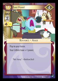 My Little Pony Fast Food High Magic CCG Card