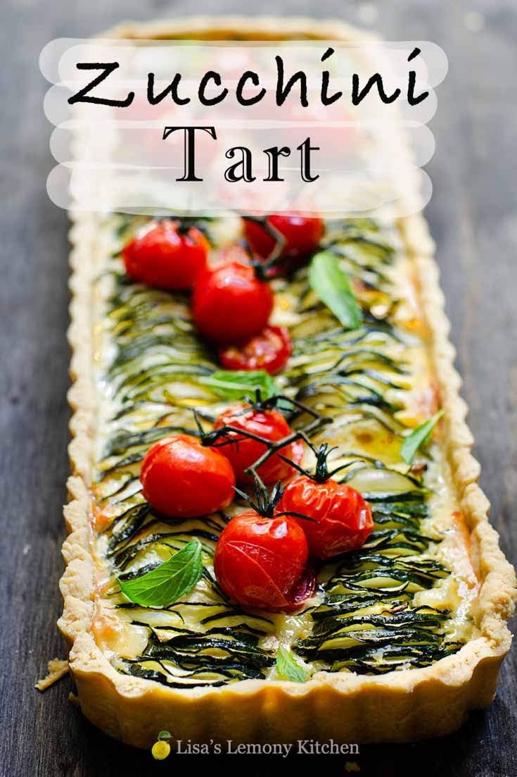 Easy zucchini and feta tart is a delicious vegetarian recipe for any time of the day and perfect with a side salad.