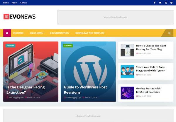 Download EvoNews Blogger Template