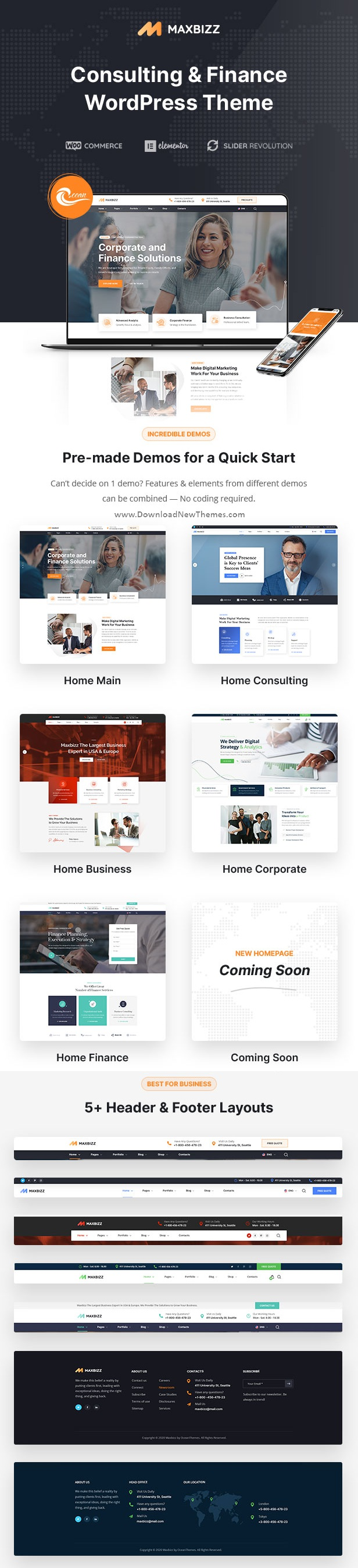 Consulting and Financial Elementor WordPress Theme