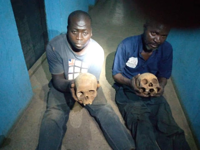 Two ritualist arrested with human skulls at Muslim cemetery in Kaduna (Photos)