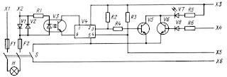 Блок контроля электронного коммутатора