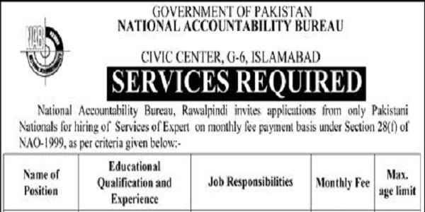 Latest National Accountability Bureau NAB Accounting Posts Islamabad 2020