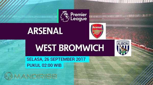 Arsenal akan menjamu West Bromwich Albion di Emirates Stadium pada pekan keenam Premier L Berita Terhangat Prediksi Bola : Arsenal Vs West Bromwich Albion , Selasa 26 September 2017 Pukul 02.00 WIB