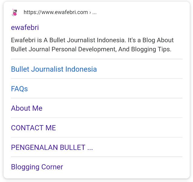 contoh sitelink versi mobile
