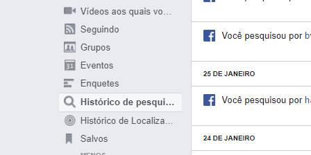 Como excluir o histórico de pesquisa do Facebook