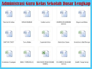 File Kumpulan Administrasi Guru Kelas Sekolah Dasar