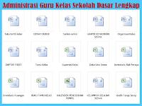 Arsip Administrasi Guru Kelas SD Lengkap