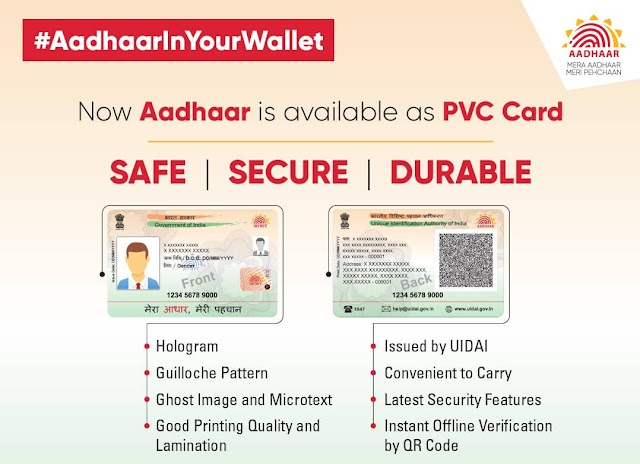 Aadhaar PVC Card From UIDAI Complete Procedure