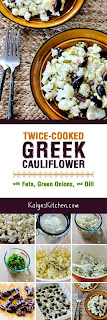 Twice-Cooked Greek Cauliflower with Feta, Green Onions, and Dill found on KalynsKitchen.com