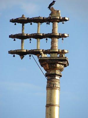 Dhwaja Stambha - Lightening arrestor Vedic temple