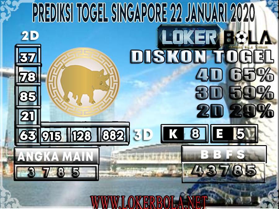 PREDIKSI TOGEL SINGAPORE LOKERBOLA 22 JANUARI 2020