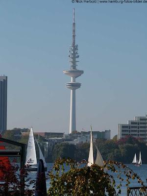 Fernsehturm, Funkturm, Hamburg, Blick von der Alster