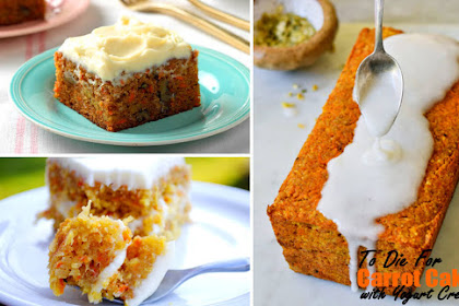 To Die For Carrot Cake with Yogurt Cream