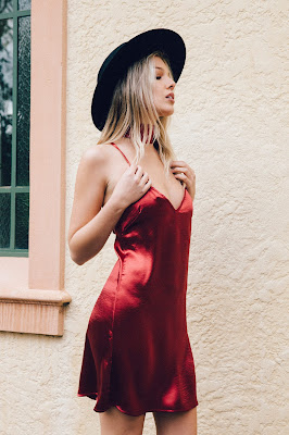 Fedora Red Slip Dress