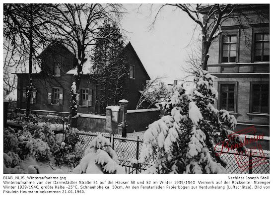 Nachlass Joseph Stoll, Bild von Frau Heumann, Darmstädter Straße 51, 1941