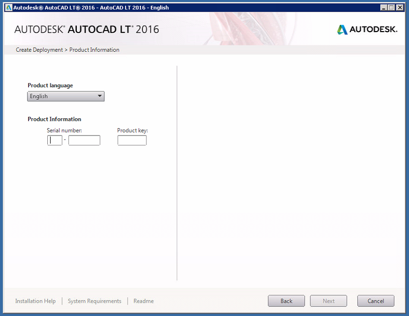 enter serial number and product key autocad 2012