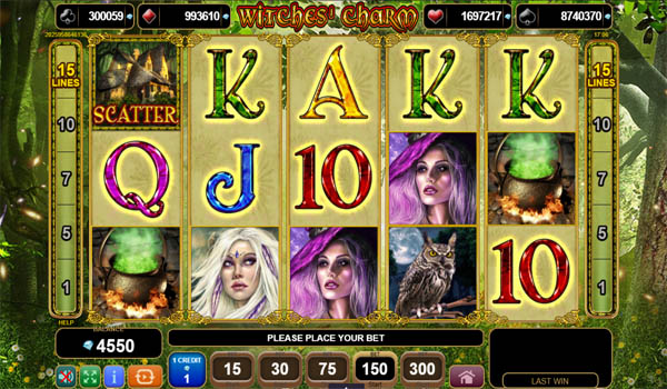 Main Gratis Slot Indonesia - Witches Charm EGT
