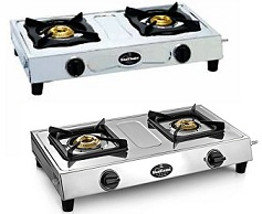 Sunflame Shakti Stainless Steel 2 Burner Gas Stove worth Rs.2095 for Rs.1390 @ Amazon