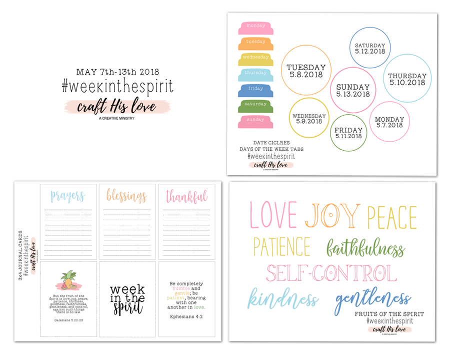 Craft His Love - Walk in the Spirit- Free Printables