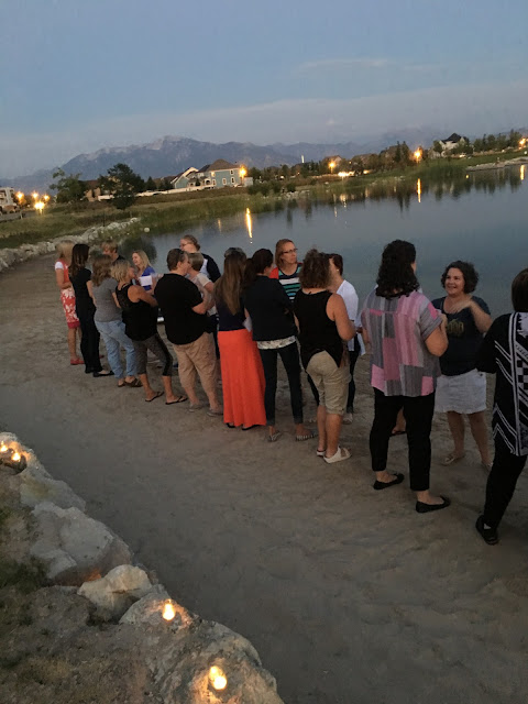 Summer soiree by the lake, Relief Society activity by the lake
