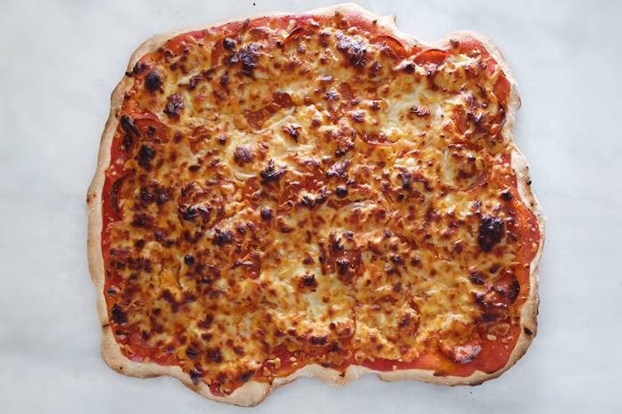 fully baked pizza ready to eat