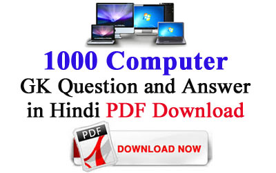 1000 Computer GK Question and Answer in Hindi PDF Download