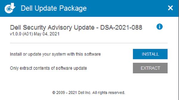 Dell Security Advisory Update – DSA-2021-088