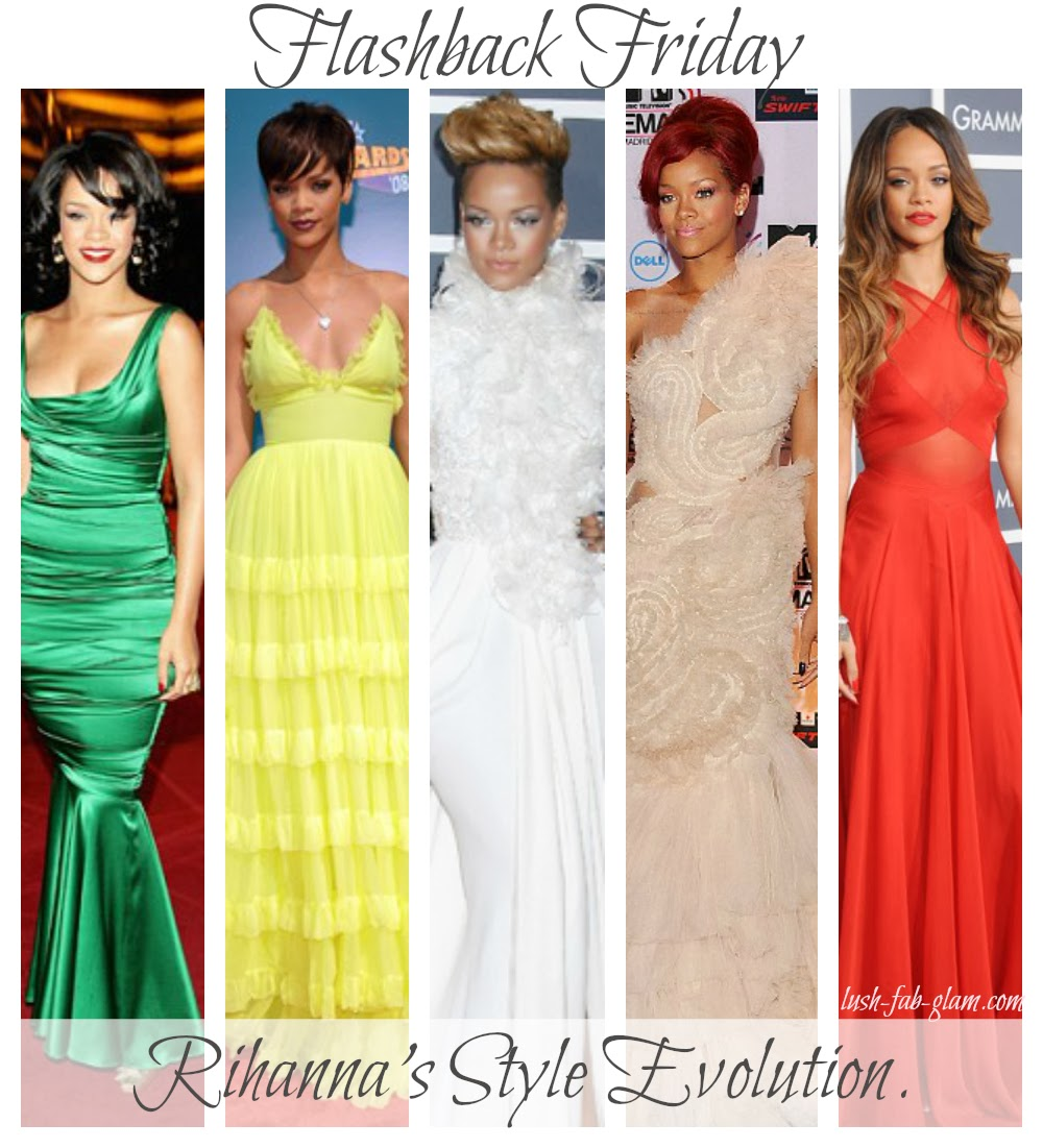 4b2c186b9b0a Join us for this Flashback Friday as we reminisce and take a walk down  fabulous fashion lane with Rihanna before she became GQ November's scary  Medusa cover ...
