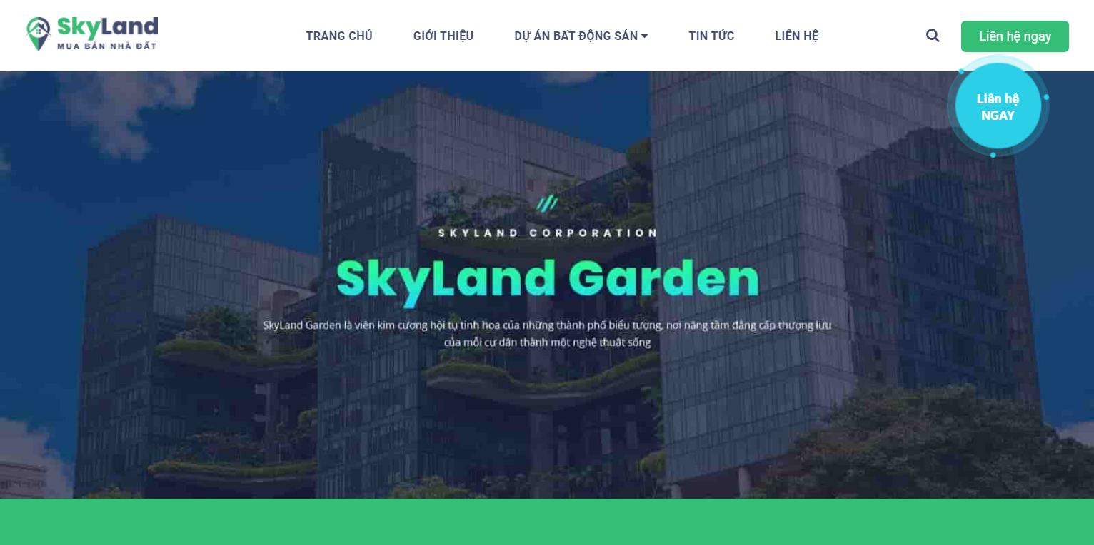 Chia sẻ miễn phí template blogspot bất động sản Skyland