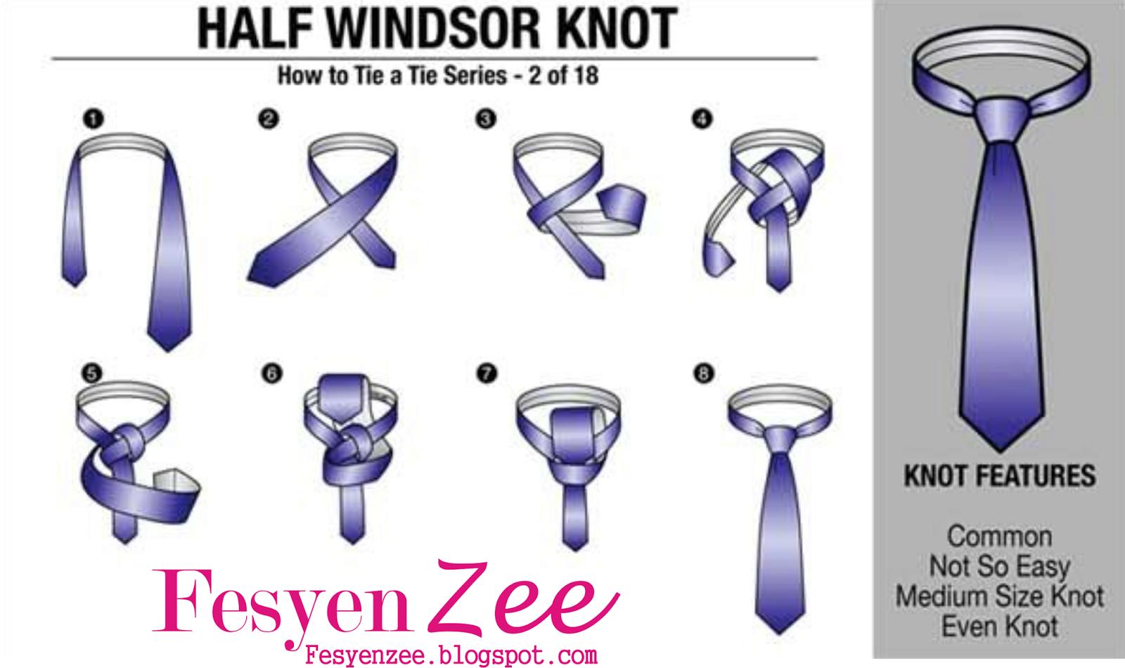 Cara memasang dasi untuk pria yang benar dan mudah, untuk pelajar.