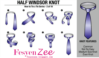Gambar Dasi Model Simpul Half Windsor